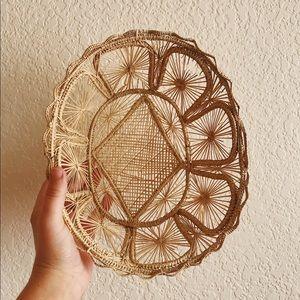 Vintage Isola d'Ischia Handwoven Straw Basket